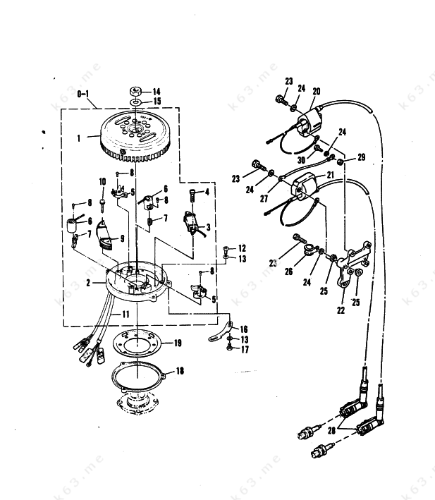 Mercury Outboard Engine Parts Diagram Mercury Outboard Parts Drawing