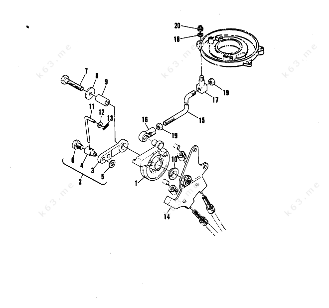 Mercury Mariner W Parts Throttle Linkage on 88 Chevy Ke Light Wiring Diagram
